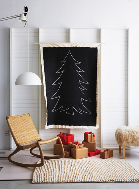 5 Creative Chalkboard Christmas Trees