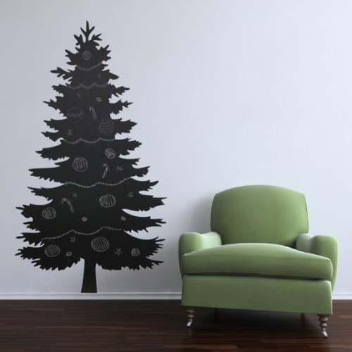 5 Creative Chalkboard Christmas Trees - Shelterness