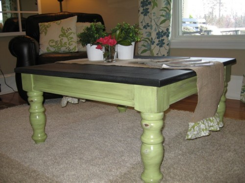 Chalkboard Coffee Table After Renovation