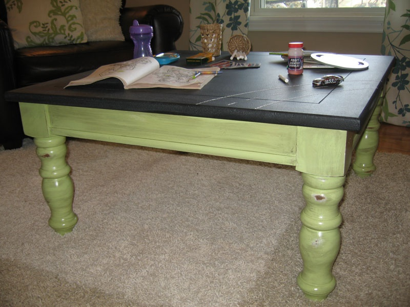 Picture Of Chalkboard Coffee Table Renovation