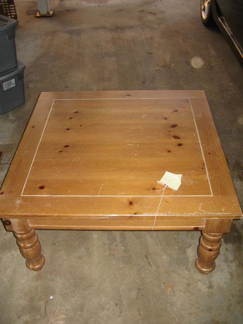 Chalkboard Coffee Table Renovation Before