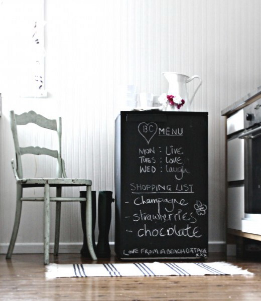 Picture of chalkboard dresser painting ideas for Chalkboard paint decorating ideas
