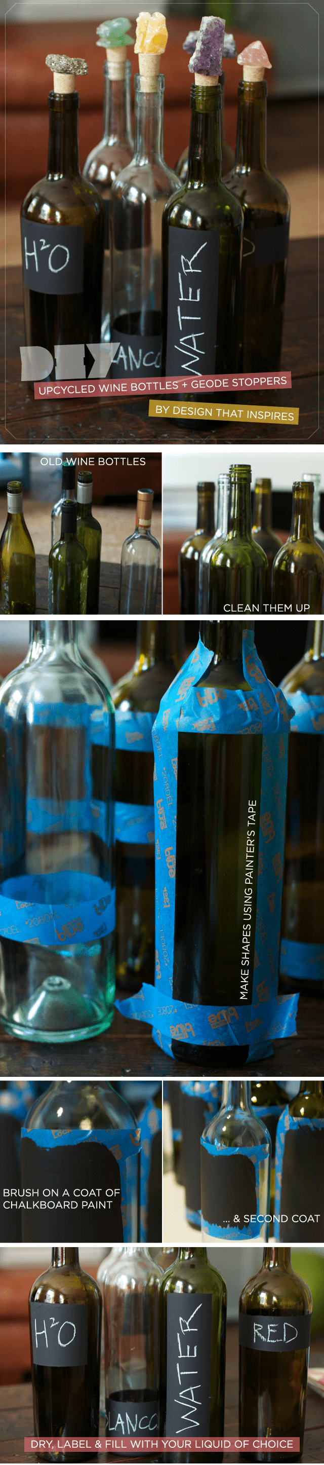 chalkboard labels for wine bottles