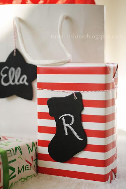 christmas gift tags (via rustsunshine)