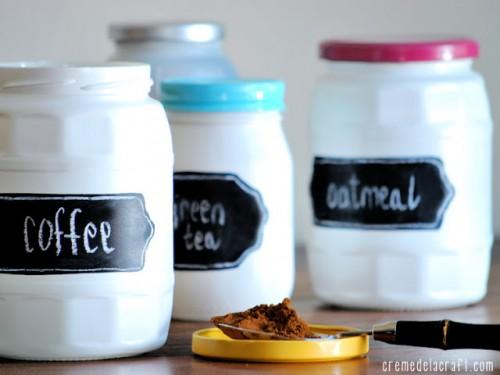 chalkboard labels for jars (via cremedelacraft)