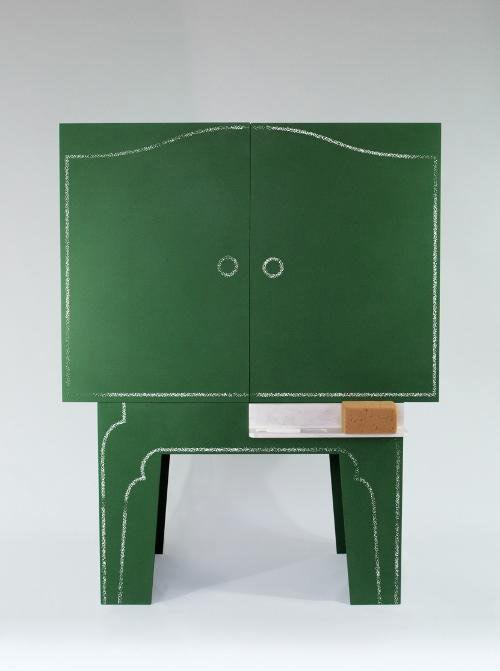 Chalkboard Storage Cabinet