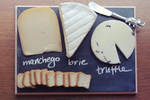 chalkboard food tray