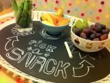 oval chalkboard tray