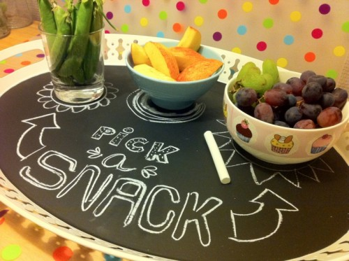 oval chalkboard tray (via leaslirumlarum)