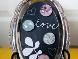 chalkboard silver platter