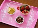 pink chalkboard tray