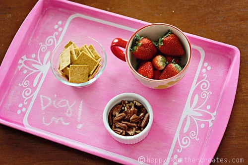 pink chalkboard tray (via happytogethercreates)