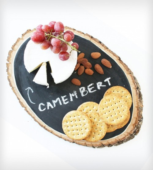 chalkboard cheese tray (via scoutmob)