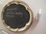 silver chalkboard tray