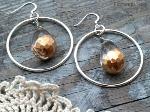 gold dipped earrings (via shelterness)