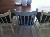 shabby chic dining chairs