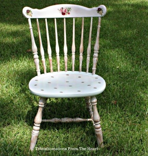 Shabby Chic Floral Chair (via Transformationsfromtheheart)
