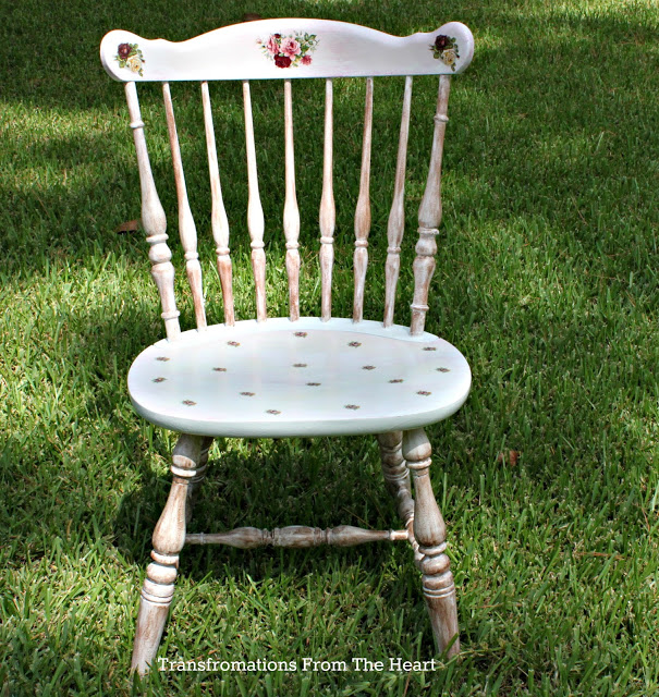 shabby chic floral chair
