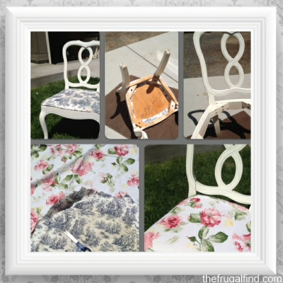 reupholstered shabby chic chairs (via thelifeyoulive)