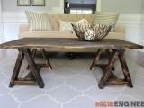 charming-vintage-diy-sawhorse-coffee-table-1