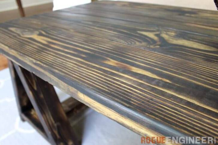 Picture Of charming vintage diy sawhorse coffee table  2