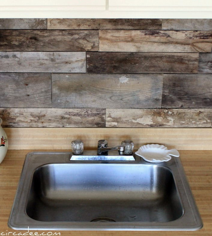 Rustic Kitchen Backsplash: Picture Of Cheap Diy Rustic Kitchen Backsplash