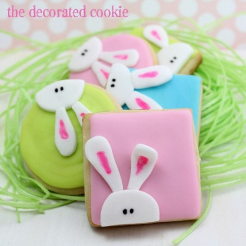 bunny cookies (via thedecoratedcookie)