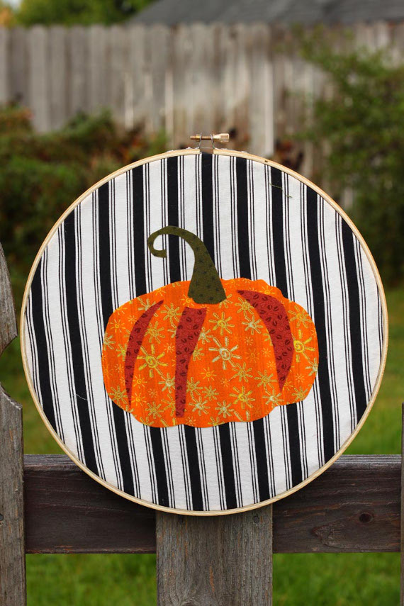 Picture Of cheerful diy autumn applique artworks  7