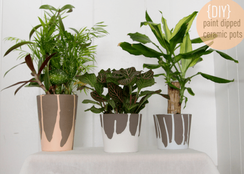 dipped ceramic pots (via thelovelycupboard)