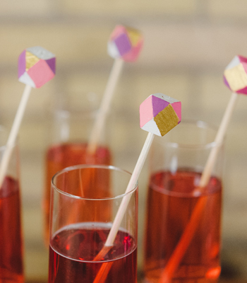 faceted drink stirrers