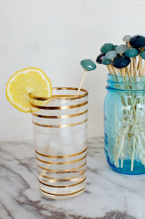 old necklace drink stirrers