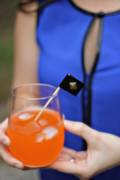 leather studded drink stirrers (via theflairexchange)