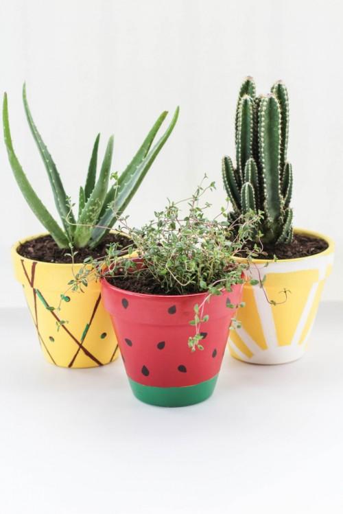 Cheerful DIY Juicy Fruit Planters To Make