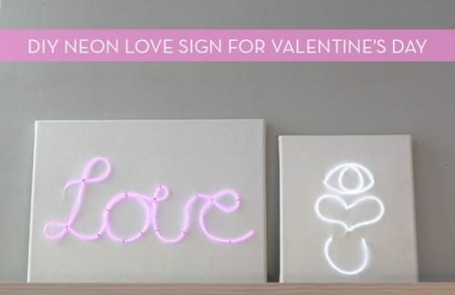 easy neon LOVE sign (via curbly)