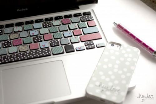 Cheerful DIY Washi Tape Keyboard