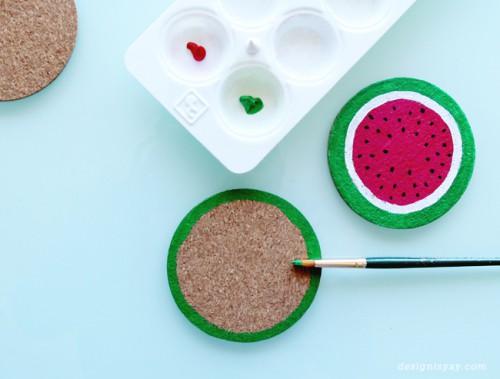 Cheerful Summer Inspired DIY Fruit Coasters