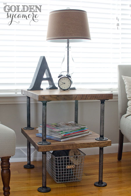 industrial galvanized metal nightstand  (via thegoldensycamore)