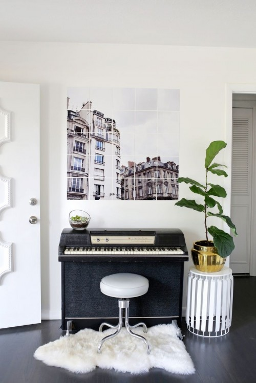 Chic And Trendy DIY Oversized Tiled Photo Art