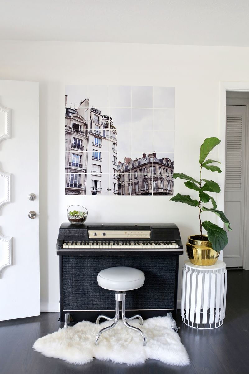 Picture Of chic and trendy diy oversized tiled wall art  1