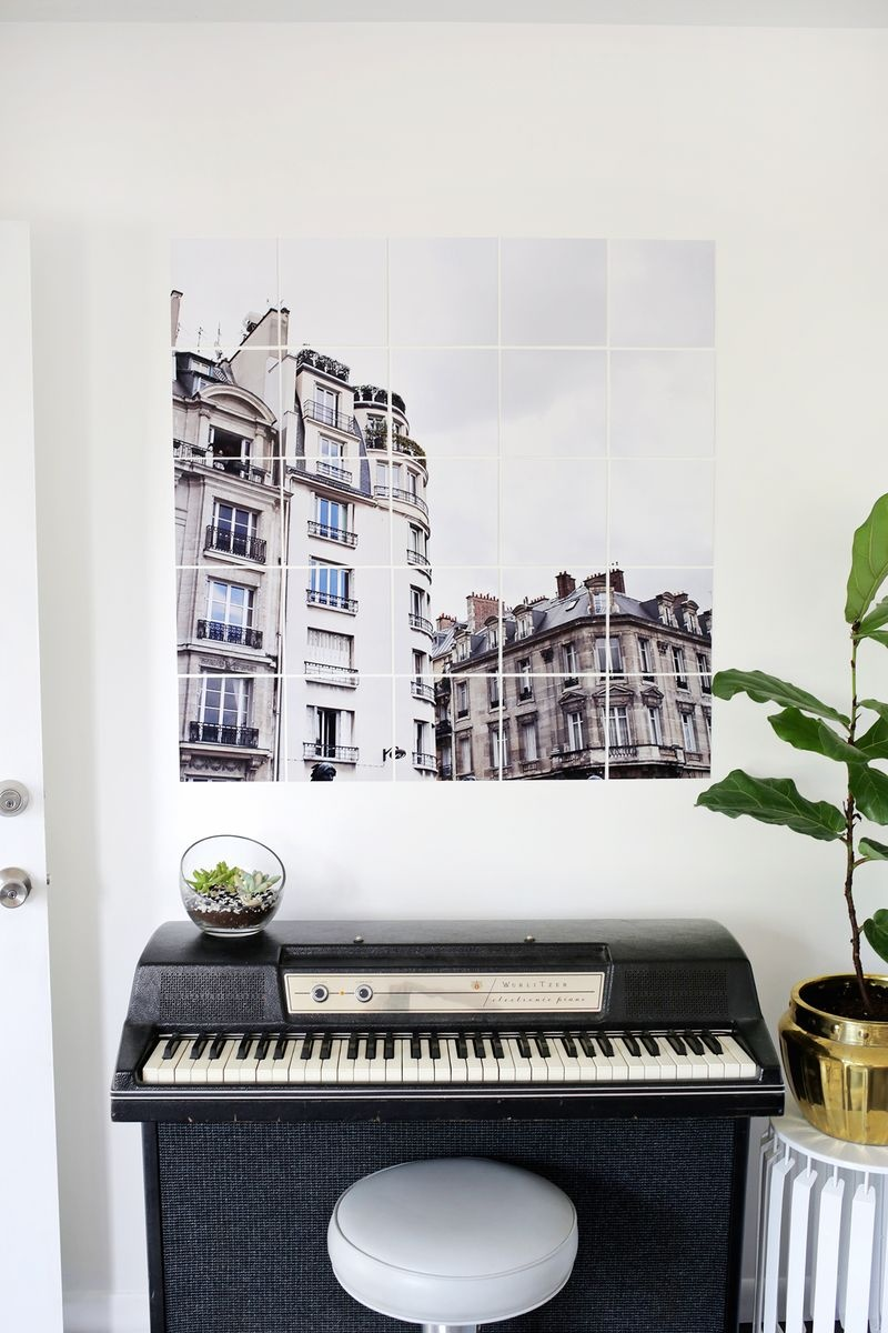 Picture Of chic and trendy diy oversized tiled wall art  7