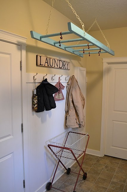 Chic Drying Rack From A Ladder
