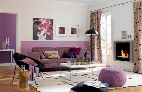 Chic Purple Living Room Design