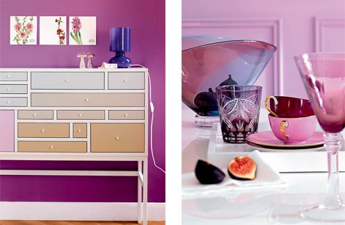 Chic Violet Living Room Design
