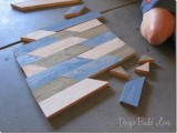 Chic Wall Art Of Recycled Wood