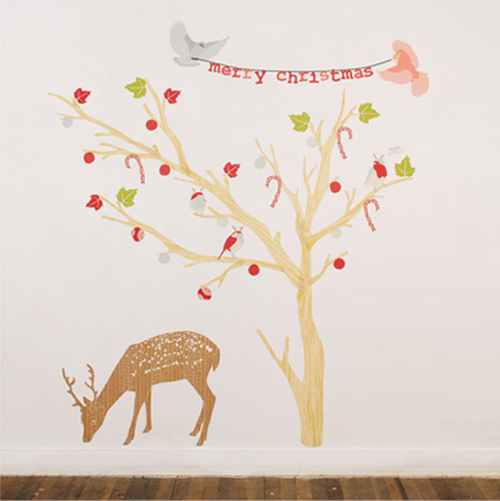 Christmas Fabric Wall Stickers