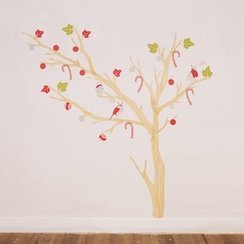 Christmas Fabric Wall Decals