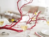 Christmas Red Branch Centerpiece