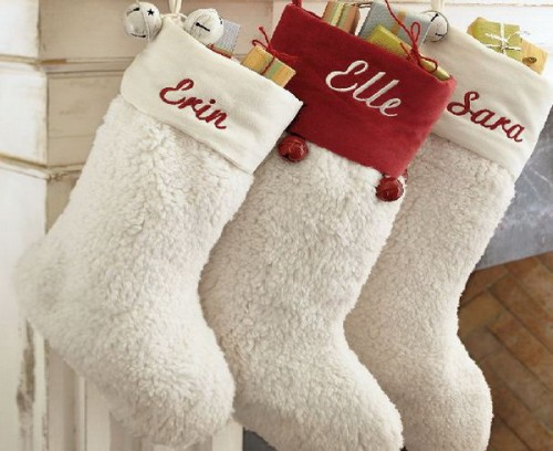 Repurpose a bunch of towels into an awesome Chrismtas mantel decor.