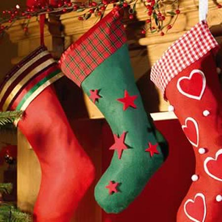 Mix And Match Colorful Handmade Stockings That Invite Stuffing These Felt Socks Is A Great