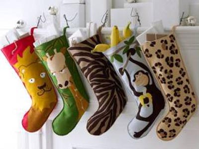 To make your kids happy embellish stockings with their favorite animals.